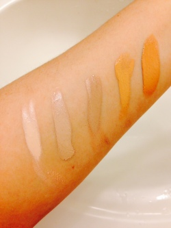 Missha BB Cream shades sample swatches
