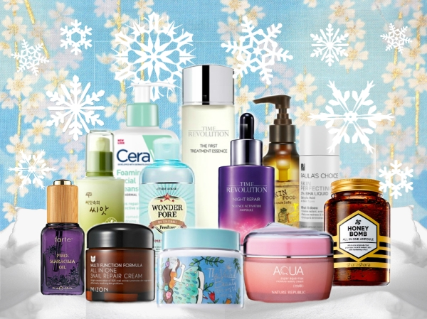 Winter skin care routine Korean products